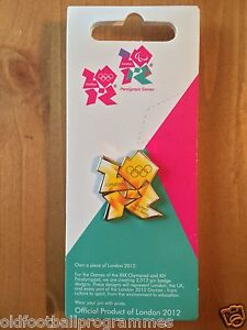 2012 OLYMPIC TORCH RELAY FLAME PIN BADGE