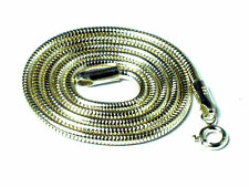 "16""   Sterling  Silver  Snake chain  NECKLACE  -   2 mm"