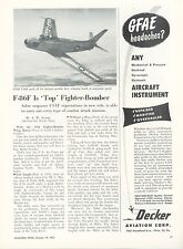 1953 Aviation Article North American F-86 Sabre Jet Fighter Bomber F-86F