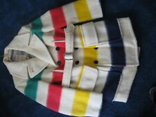 Hudson's Bay Company-Classic Coat-Striped Wool-Blanket-Vintage-Canada