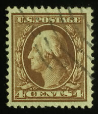 U.S. Scott # 377 4c S/L wmk., used, F-VF appearing
