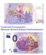 0 Euro Schein Banknote Bremen Rathaus & Stadtmusikanten Souvenir vom 6.12.2017