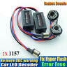 2Pcs 1157 BAY15D P21/5W CANBUS LED Decoder Light Warning Canceller Load Resistor