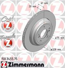 Zimmermann 150.3455.75/150.3456.75 Trasero Discos De Freno Par (Fórmula Z)