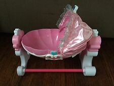 My First Disney Princess Baby Rocking/Music Doll Bassinet/Crib/Night Light Rare!