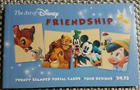 USPS The Art of DISNEY: FRIENDSHIP  20 stamped postcards, 4 designs 2003 NEW