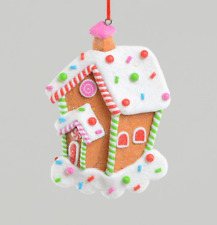 Gingerbread House Christmas Tree Decorations / Ornaments 11cm Pack x2