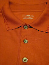 Mens PGA Tour Short Sleeve Golf Size XXL Shirt - solid Red or Rust color