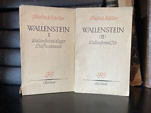 Wallenstein Ein Dramatisches Gedicht (LOT of 2 German Books)