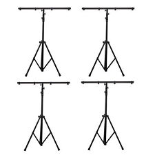 American DJ 9 Ft Black Lighting Tripod T-Bar Light Stand w/ Cross Bar (4 Pack)