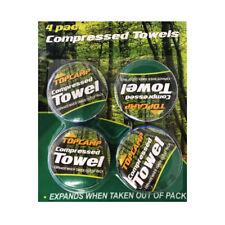Confezione di 4 Asciugamani Compressi Magic Campeggio Viaggio Vacanza Viso Mano tessuti del corpo
