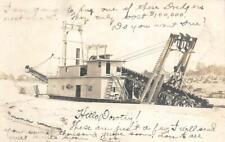 RPPC GOLD DREDGE Oroville, CA 1905 Butte County Mining Oakville Vintage Postcard