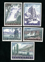 Argentina Stamps # 638-42 XF Card back proofs