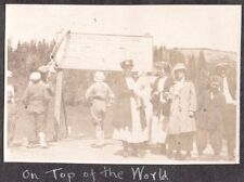 1919 WATER STATION PIKES PEAK COLORADO STEAMBOAT SPRINGS ROADSIDE SIGN OLD PHOTO