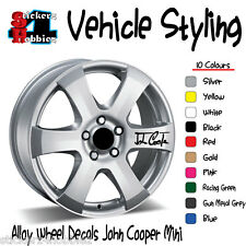 John Cooper Mini Alloy Wheel Sticker Decal x6