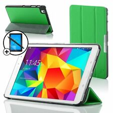 Leather Green Smart Case for Samsung Galaxy Tab PRO 8.4 + Screen Prot & Stylus