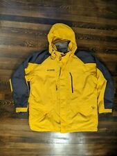 Columbia Interchange Mens XL Hooded 3-1 Jacket With Inner Fleece Yellow CORE