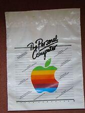 Portador de plástico con logotipo de Vintage equipo Apple Bolsa, logotipo de Arco Iris Original
