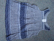 H&M Kleid blau weiß Gr. 74