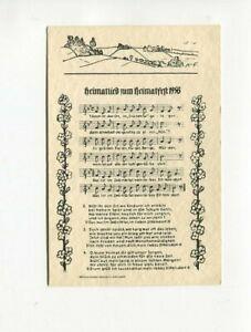 uralte AK Liederkarte Heimatlied zum Heimatfest 1958 Dittersdorf Zwönitztal //43