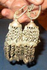 "Earrings Afghan Kuchi Tribal Alpaca Silver 3"""