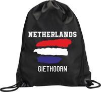 BACKPACK BAG GIETHOORN NETHERLANDS HOLLAND GYM HANDBAG SPORT M1