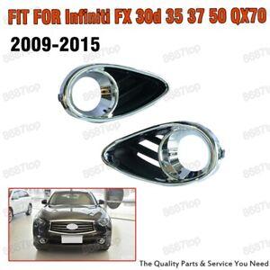 Front Fog Light Cover Trim Bezel for Infiniti FX 30d 35 37 50 QX70 2009-2015