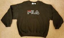Vintage Fila Logo Spell Out Sweatshirt XXL 2XL Black