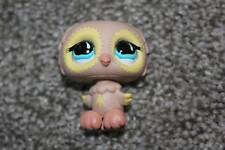 Littlest Pet Shop Peach Tan Yellow Owl #674 Blue Tear Drop Eyes LPS Toy RARE HTF