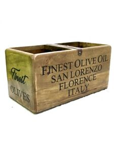 Wooden Storage Box Finest Olive Oil, Organisers, Crates, Oil and Vinegar Holder