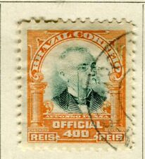 BRAZIL; 1906 early Penna Official issue fine used 400r. value