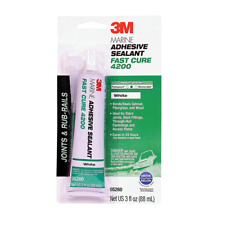 3M™ Marine Adhesive Sealant Fast Cure 4200FC White, 3 oz Tube