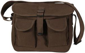Brown 2 Pocket Canvas Military Ammo Carry Shoulder Bag