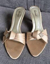 Vertino Ladies Sandals 6 39 Evening Occasion Kitten Heel Party Mules Low Heel