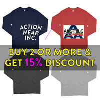 AAA ALSTYLE 1304 MENS PLAIN LONG SLEEVE T SHIRT CASUAL COTTON TEE COMFORT SHIRTS