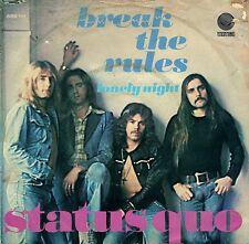 "7"" Status Quo – Break The Rules / Lonely Night // Dutch 1974"