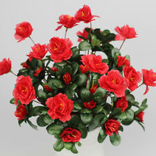 Artificial Bouquet Azalea Bridal Silk Flower Home Wedding Garden Decor Free P&P