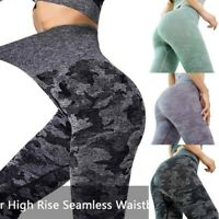 New Women's Seamless Leggings High Waisted Workout Gym Sports Push Up Yoga Pants