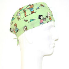Peanuts Gang Easter theme green scrub hat