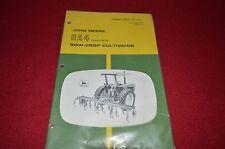 John Deere RA4 Cultivator Operator's Manual GDSD6