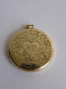 Large vintage 9ct gold back & front locket