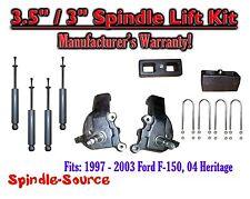 """1997 - 2003 Ford F-150 F150 2WD 3.5"""" / 3""""  Spindles blocks LIFT KIT + SHOCKS"""