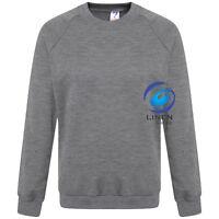 Kids Children Unisex School Uniform Plain Fleece Sweat Jumper Pullover