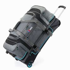 "30"" Large Drop Bottom Wheeled Duffel Bag Travel Gear Suitcase Luggage Heavy Duty"
