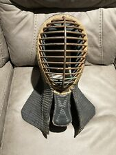 Rare Antique Leather Fencing Mask Metal