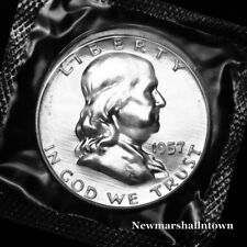 1957 Franklin Mint Proof Half Dollar from Proof Set in Mint Cellophane