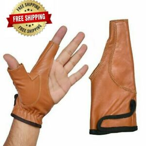 Archery Bow Glove Left Hand Gloves100%Thick Leather Skin In All Size In 4 Colors