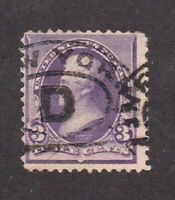 United States stamp #221, used, 1890 - 93, 3c purple,  SCV $9.00