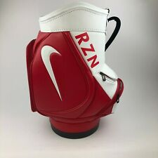 Nike RZN Red & White Mini Caddy Staff Golf Ball Bag RARE