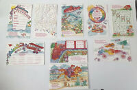 Lot Of 22 Vintage Valentines Day Game Cards For Kids